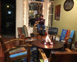 Tim Hillwood playing at store on Main Street in Durango Colorado